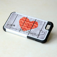 Personalized Phone Case, Geometric Wood Rustic Heart + Future Mrs Monogrammed iPhone Case, Galaxy S4 Case, Fall Wedding