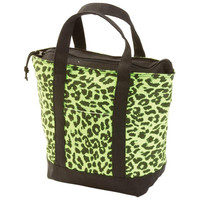 Extreme Pak Neon Green Leopard Print Lunch/Cooler Bag