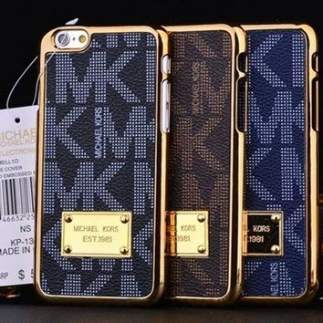 MK Fashion Print Plated iPhone Phone Cover Case For iphone 6 6s 6plus 6s-plus 7 7plus