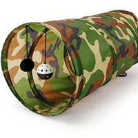 Pet Play Tunnel Camouflage Color Funny Cat Long Tunnel Kitten Play Toy Collapsible Bulk Cat Toys PlayTunnel (Color: Camouflage) = 1714383044