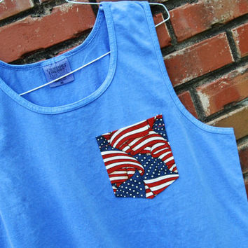 On SALE -  USA Flag Pocket Tank