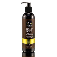 Earthly Body NAG CHAMPA Hemp Seed Bath and Shower Gel 8oz.