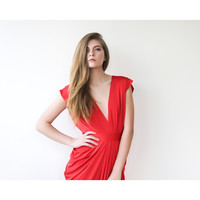 Blushfashion™ Red Evening Maxi Dress