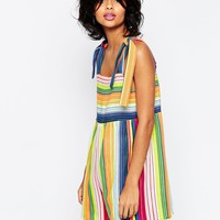 ASOS Rainbow Playsuit with Ties