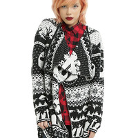 The Nightmare Before Christmas Fair Isle Girls Flyaway Cardigan