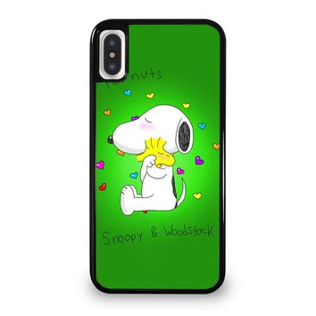 PEANUTS SNOOPY AND WOODSTOCK iPhone 5/5S/SE 5C 6/6S 7 8 Plus X/XS Max XR Case Cover