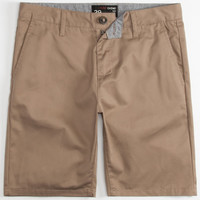 Blue Crown Mens Slim Chino Shorts Dark Khaki  In Sizes