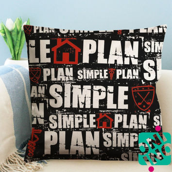 Simple Plan Band Logo Zippered Pillow Case, Cushion Case, Pillow case