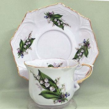 Hanna Demi Tea Cups (Teacups) and Saucers Set of 2 Choose from 30 Patterns