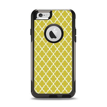 The Gold & White Seamless Morocan Pattern Apple iPhone 6 Otterbox Commuter Case Skin Set