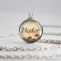 "Thrones pendant ""Hodor"" Hodor quotation silver"