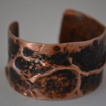 Rustic Copper Cuff, Arm Cuff,  Rustic Copper Bangle, Rustic Cuff Bangle, Copper Jewelry, Copper Bracelets, Unisex Jewelry, Copper Bangle