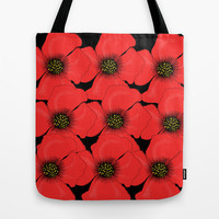 Poppies Tote Bag by Veronica Ventress