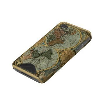 Old World Map iPhone Case Id Iphone 4 Cases from Zazzle.com