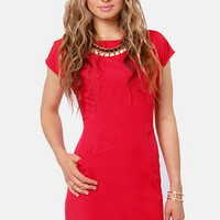 Lucy Love Mondrian Backless Red Dress