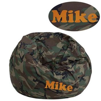 Personalized Small Camouflage Kids Bean Bag Chair