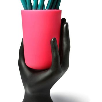 Hand Cup Pen/Pencil Holder by LilGift (Orange)