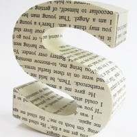 Read me any letter from repurposed book page by littlewhitedog