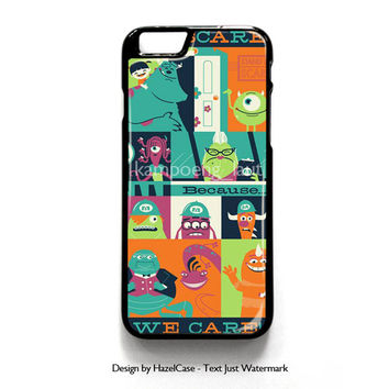 Monster Inc Quotes for iPhone 4 4S 5 5S 5C 6 6 Plus , iPod Touch 4 5  , Samsung Galaxy S3 S4 S5 Note 3 Note 4 , and HTC One X M7 M8 Case Cover