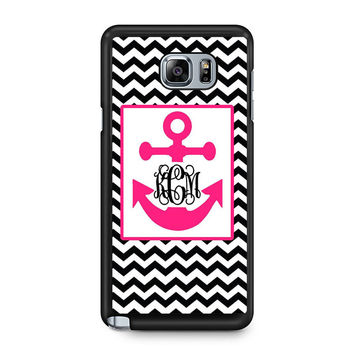 Monogram Anchor Wallpaper Samsung Galaxy Note 5 Case