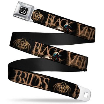 Black Veil Brides Men's  Dust Mask Skeleton Seatbelt Buckle Belt