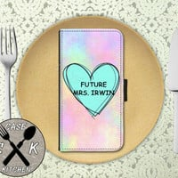 Future Mrs. Irwin Pastel Tumblr Candy Heart Cute 5Sos Custom Wallet Phone Case For The iPhone 4 and 4s and iPhone 5 and 5s and 5c