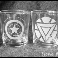 Avengers Inspired Tumbler Set featuring The Hulk, Iron Man, Captain America and Thor