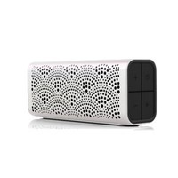 BRAVEN LUX Portable Wireless Bluetooth Speaker [12 Hr Playtime][Water Resistant] Built-In 1400 mAh Power Bank Charger - Pearl
