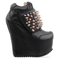 Jeffrey Campbell Dramo Spike in Black Gold at Solestruck.com