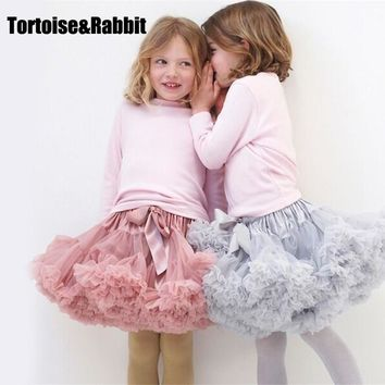 Girls Tutu Skirt Ballerina Pettiskirt Layer Fluffy Children Ballet Skirts For Party Dance Princess Girl Tulle Miniskirt