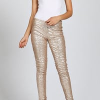 Life of the Party Gold Sequin Pants