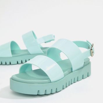 e5ea7aabf783 ASOS DESIGN Fadey Chunky Jelly Flat Sandals at asos.com