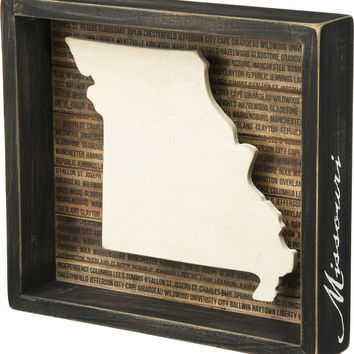 State Patriotic Pride Shadow Box Frame - Missouri