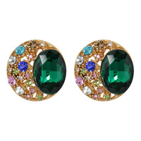 CHIC! Jeweled Stud Clip On Earrings