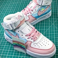 Nike Air Force 1 Af1 Mid Peppa Pig Sport Shoes - Best Online Sale