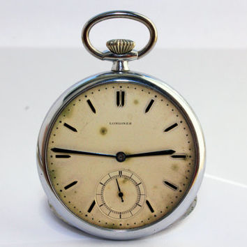 Vintage Longines Cal 37.9 Mechanical Pocket Watch Antique Swiss
