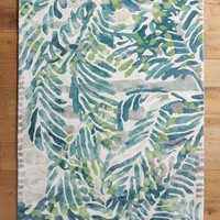 Wild Palm Rug by Anthropologie in Green Size: