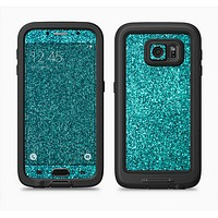 The Teal Glitter Ultra Metallic Full Body Samsung Galaxy S6 LifeProof Fre Case Skin Kit