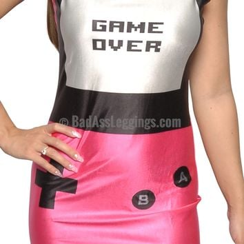 Game Over Pink Sleeveless Mini Dress Design 3034