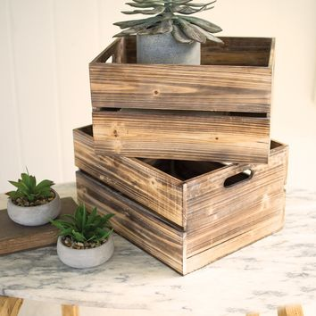 Vintage Wooden Slatted Crate