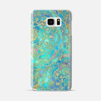 Sapphire & Jade Stained Glass Mandalas Galaxy Note 5 case by Micklyn Le Feuvre | Casetify