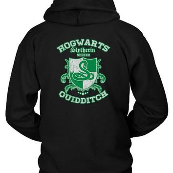 ICIK7H3 Slytherin Quidditch Hoodie Two Sided