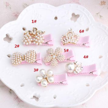 Cute Kid Floral Bowknot Hair Clip Children Crown Baby Flower Hairpin Hairclips Hairgrips Headwear Barrettes Accessories