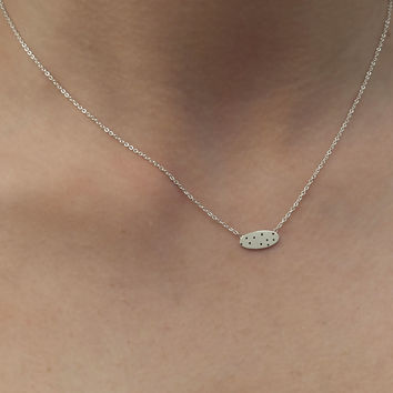 Bean Dot Sterling Silver Necklace