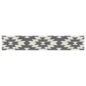 "Amanda Lane ""Southwestern Black Cream"" Tribal Geometric Table Runner"