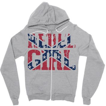 rebel girl Zipper Hoodie