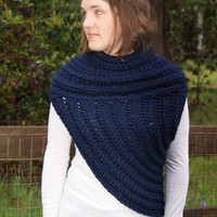 Katniss Inspired Cross body Cowl- Reversible-  READY TO SHIP