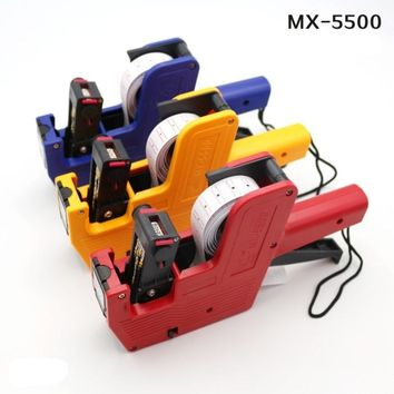 [ Fly Eagle ] Red,Blue,Yellow to choose 8 digital MX 5500 Price Tag Gun Label Labeller Stickers with 2x ink Roller