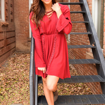 Woodland Dreams Laced Up Dress