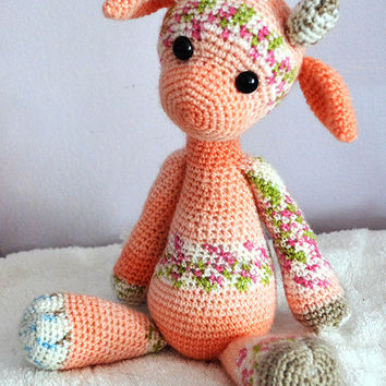 Crochet Amigurumi Pattern Emily the Giraffe Lola the Cow Pattern Modification